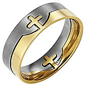 Willis Judd New Mens Titanium 2 Part Cross Ring