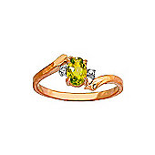 QP Jewellers Diamond & Peridot Embrace Ring in 14K Rose Gold