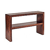 Indian Hub Mango Toko Console Table With Shelf