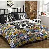 Rapport Urban Unique Route 66 Duvet Cover Set - - Multi