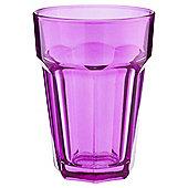 Tesco Single Soda Glass, Fuchsia