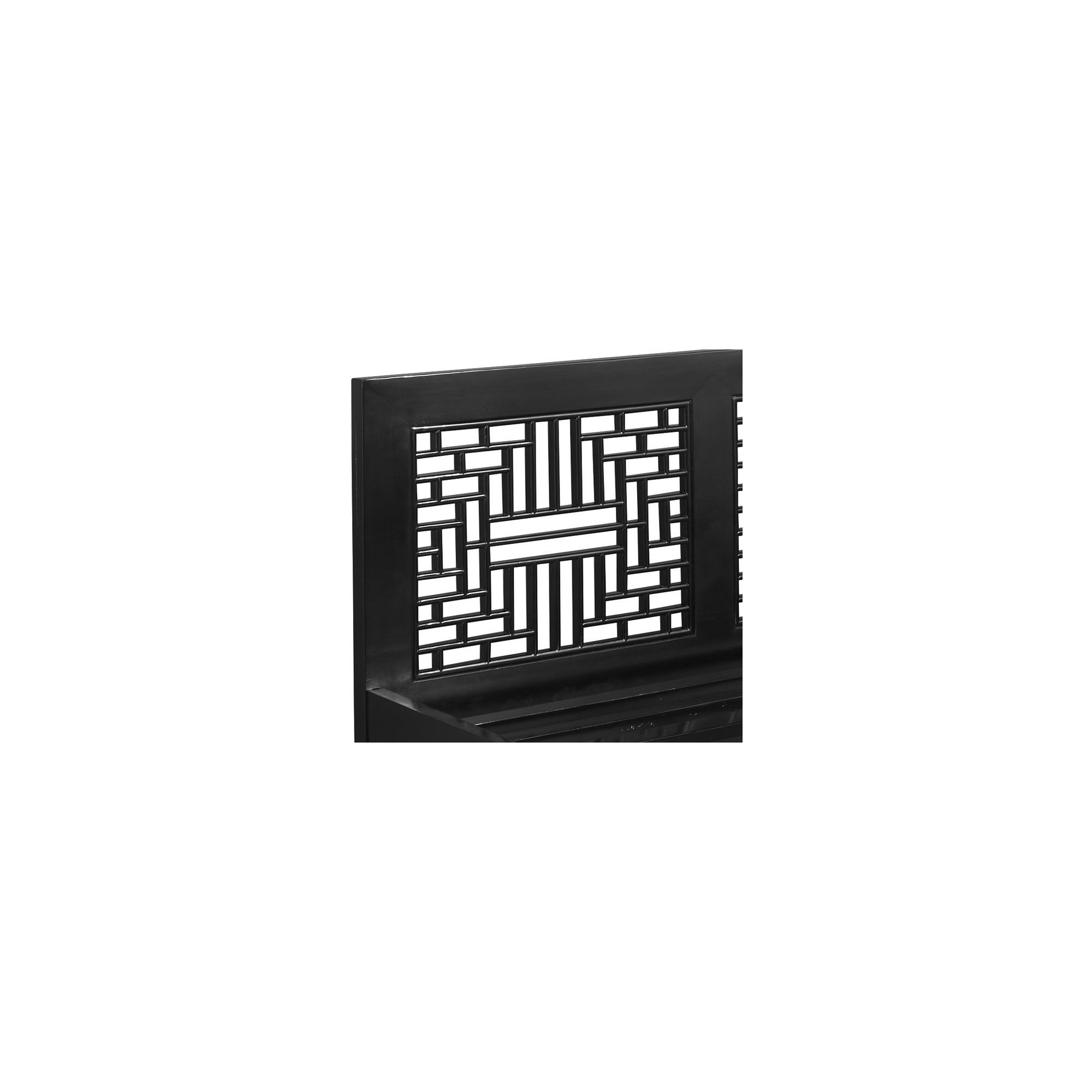 Shimu Chinese Classical Ming Carved Bed - Black Lacquer at Tesco Direct