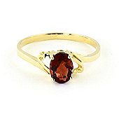 QP Jewellers 0.90ct Garnet Classic Desire Ring in 14K Gold