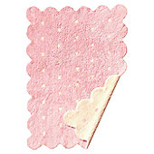 Lorena Canals Galleta Pink-Beige Reversible Children's Rug - 120 cm W x 160 cm D (3 ft 11 in x 5 ft 3 in)