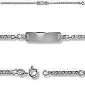 Jewelco London Sterling Silver Curb I.D Identity Bracelet - Children's