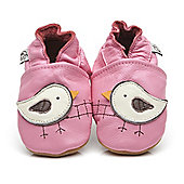 Cherry Kids Soft Leather Baby Shoes Bird - Pink