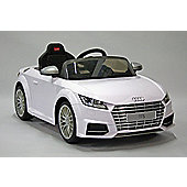 Kids Electric Car Audi TTS 12 Volt White Gloss
