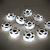 Football 10 LED Battery Operated String Lights White