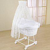 Leipold Flora Wicker Drape Crib in White