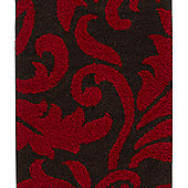 Think Rugs Majesty Brown/Red Shaggy Rug - 120 cm x 170 cm (3 ft 9 in x 5 ft 7 in)