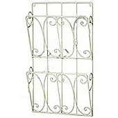 Twill - Metal Wall Mounted Magazine / Tidy Rack - Antique Cream