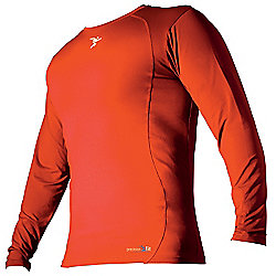 Precision Base-Layer Long Sleeve Crew-Neck Shirt Large Orange