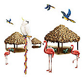 Scene Setters Tiki Hut and Tropical Bird Add-Ons (10pk)