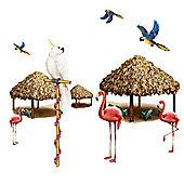 Scene Setters Tiki Hut and Tropical Bird Add-Ons (10pk)