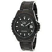 LTD Diver Ladies Black Stainless Steel Date Watch 210204