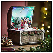 Light-up Musical Chest and Snowman Decoration