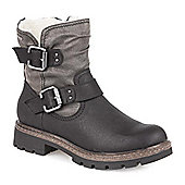 Pavers Ankle Boot with Fleece Lining - Black