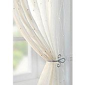 Harmony Voile Curtain Panel - Cream