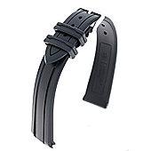 Hirsch HeveaRubber Watch Strap, Black, W18mm x L200mm