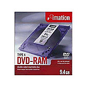 Imation 3X Type 4 9.4GB DVD-RAM Jewelcase, 5-pack