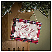 Tesco Merry Christmas Sign Hanging Decoration