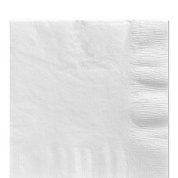 White Luncheon Napkins - 2ply Paper