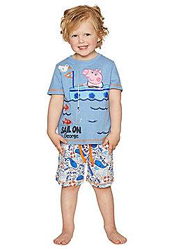Peppa Pig George Shorts Pyjamas - Blue