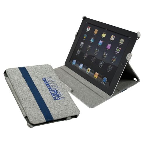 Port Designs Kobe iPad mini Canvas Case with integrated Stand Grey/Blue