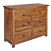 Home Essence Denver 3 Over 3 Drawer Wide Chest