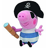 Ty Beanie Baby Peppa Pig - Pirate George Pig Soft Plush Toy
