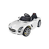 Kids Electric Car Mercedes Benz SLS 6 Volt White Gloss