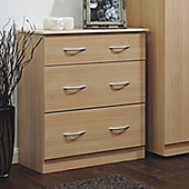 Welcome Furniture Avon 3 Drawer Deep Chest - Walnut