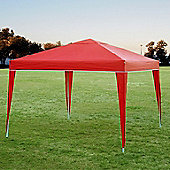 Palm Springs 10' X 10' Pop Up Gazebo Inc Sides Red