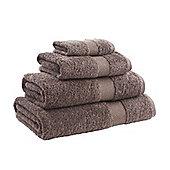 Catherine Lansfield Home Egyptian towel bath sheet, 90x140, Chocolate