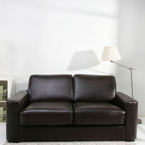 Buy leader lifestyle winston sofa bed brown bonded for Sofa bed tesco