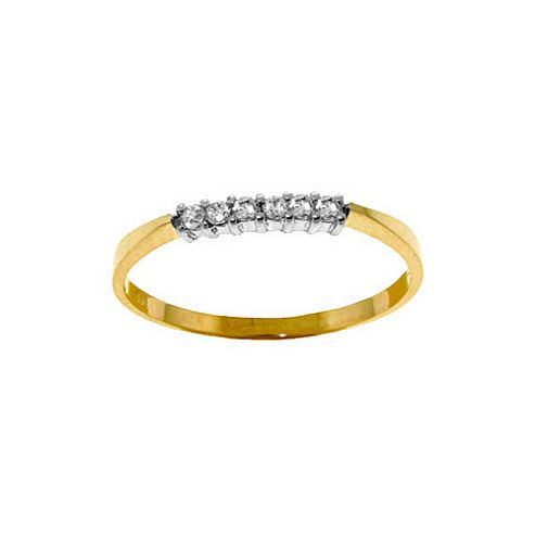 QP Jewellers 0.10ct SI-1 Diamond Eternity Ring in 14K Gold - Size P 1/2