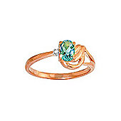 QP Jewellers Diamond & Blue Topaz Angel Ring in 14K Rose Gold