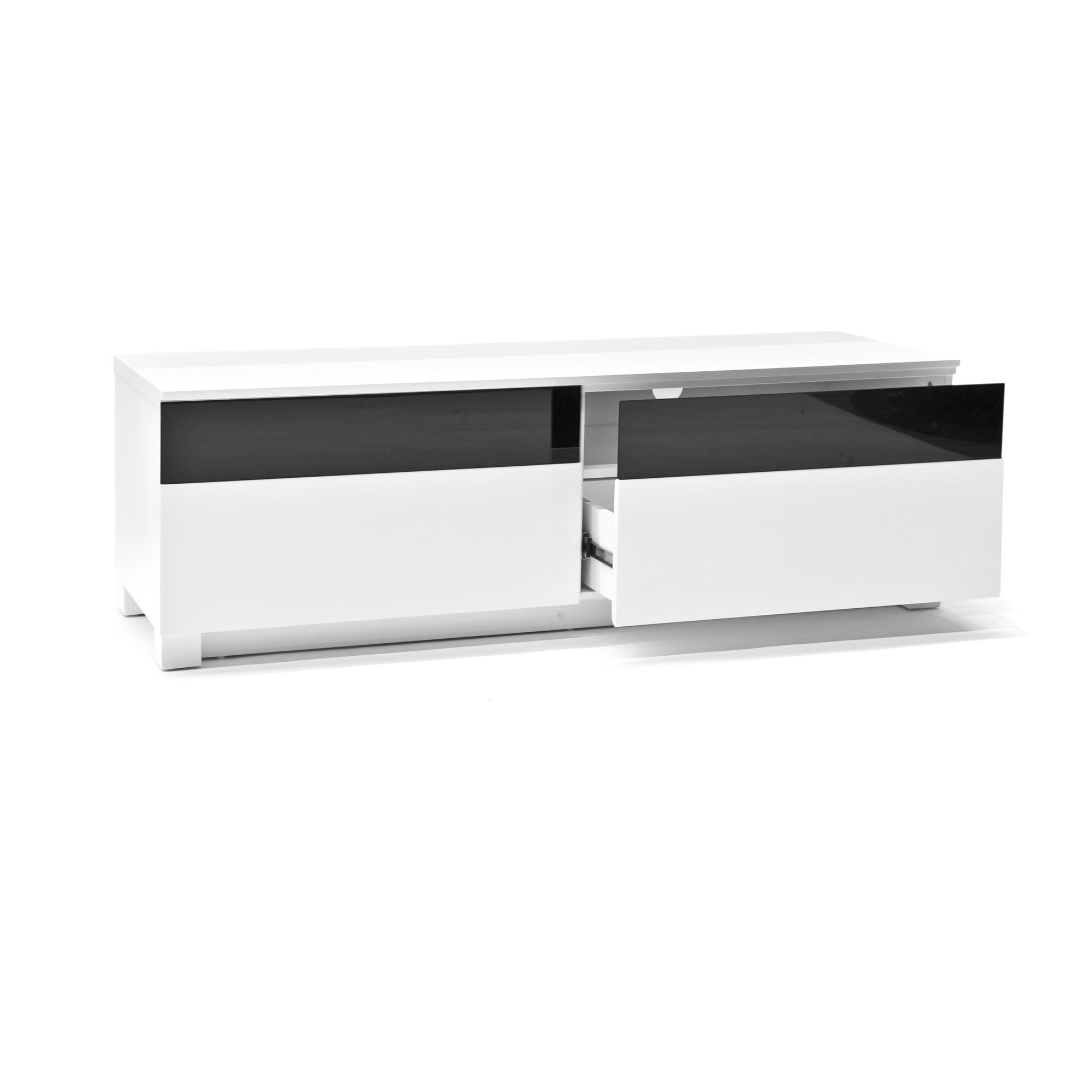 RGE Base 2 Drawers Multi-Media TV Storage and Display Unit - Lacquer White HiGloss at Tesco Direct
