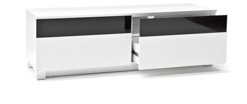 RGE Base 2 Drawers Multi-Media TV Storage and Display Unit - Lacquer White HiGloss