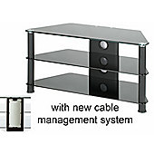 Medium Size Corner TV Stand - All Black