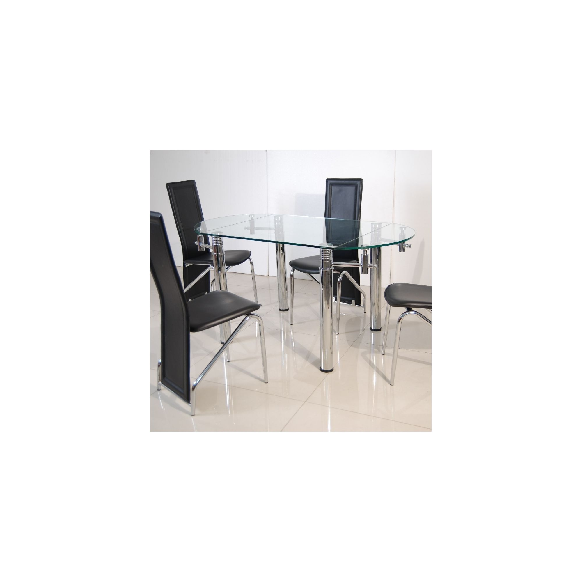 Solway Furniture Oscar Oval 5 Piece Extending Dining Table Set - Back at Tesco Direct