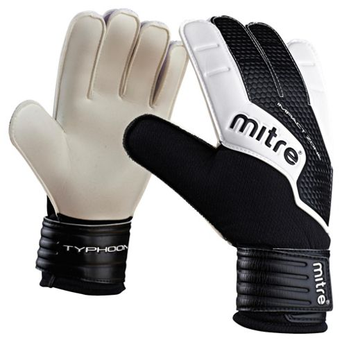 Mitre Typhoon Goalkeeper Gloves, Medium