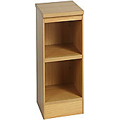 Enduro Two Shelf Narrow Bookcase - English Oak