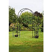Garden Arch With Solar Lanterns
