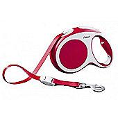 Flexi Vario S Extending Dog Lead - Red (Tape) 5m
