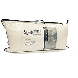 Slumberland Boutique Collection King Size Pillow Anti Allergy 100% Fine Cotton Cover