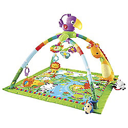 NEW Fisher Price Rainforest Melodies N Lights Deluxe Gym