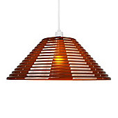 Omega Acrylic Semi Transparent Ceiling Light Pendant Shade in Chocolate Brown