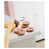 Russel Cedar Wood Moth Repellent Hanger Rings - 6 Pack