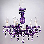 Marie Therese Five Way Ceiling Light Chandelier in Purple